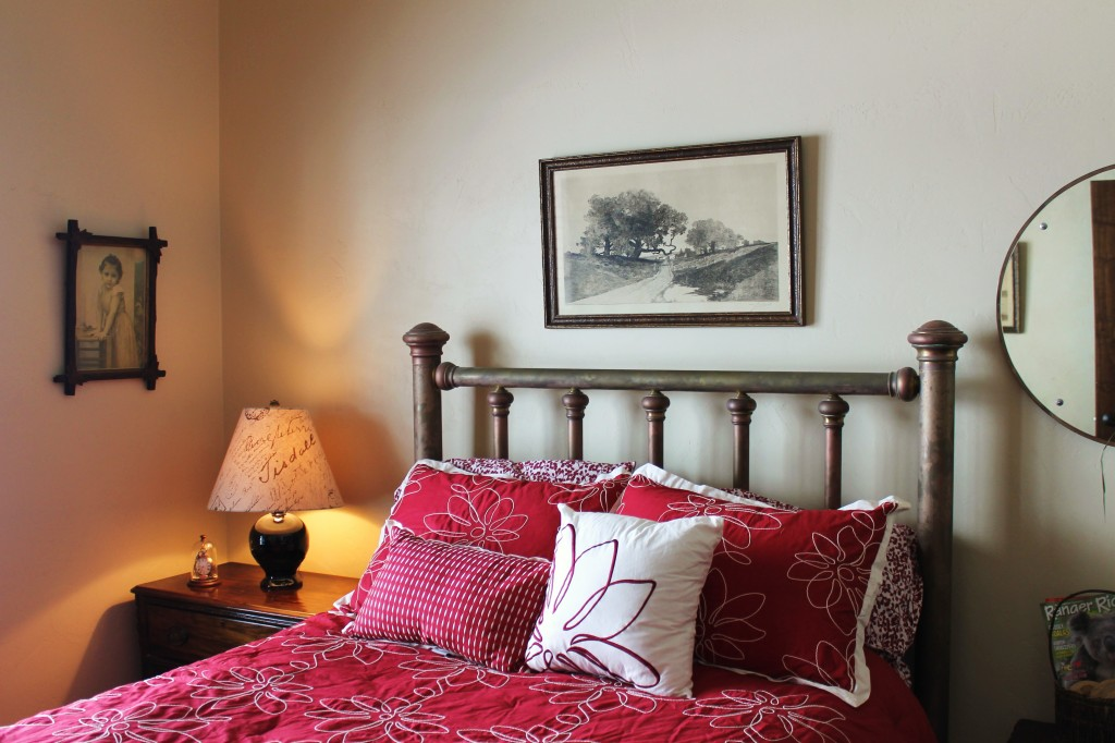 JW bedroom with antiques