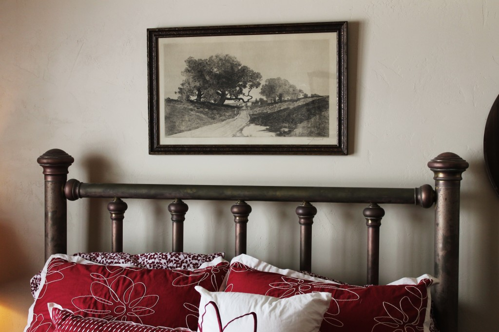 JW picture over bed
