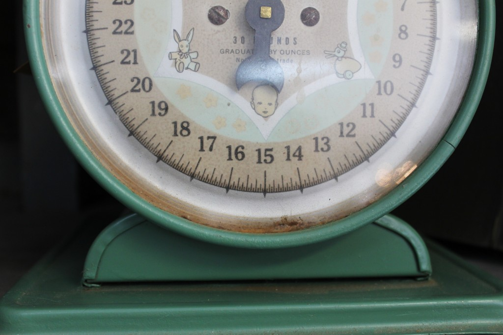 antique scale green