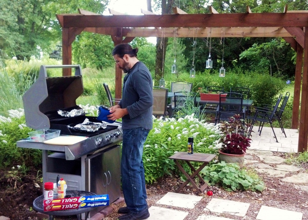 nick grilling for ann dinner 2013