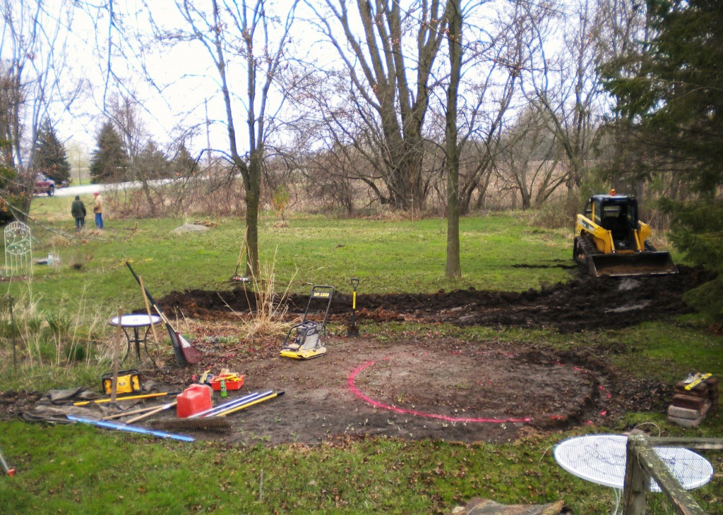 our yard before