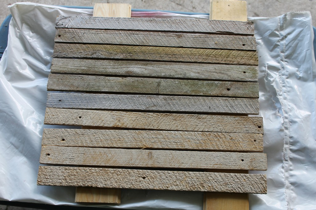lath after it dries