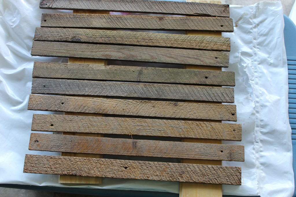 lath with light stain