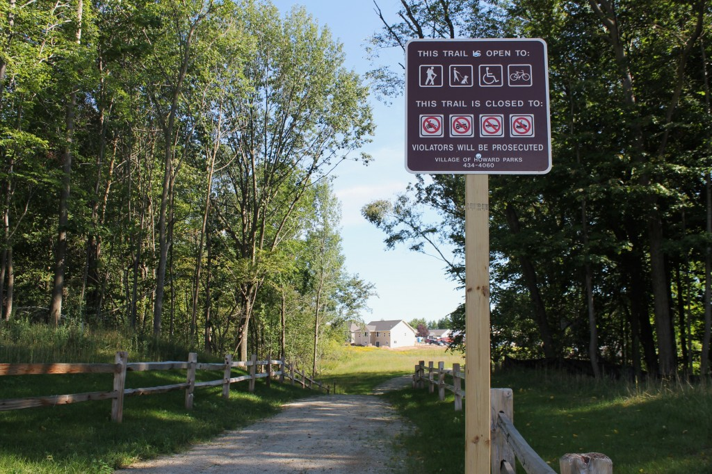 walking trail between two