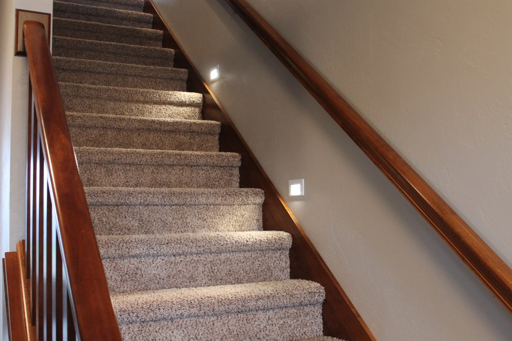 lighting on stairs