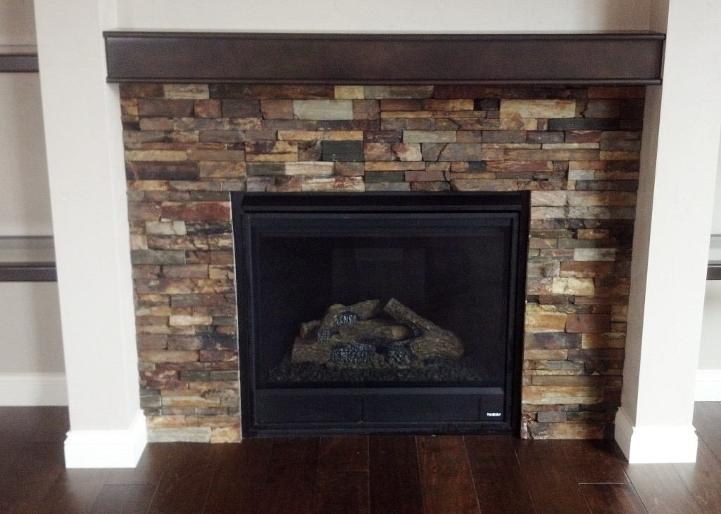 fireplace with slate dark colors