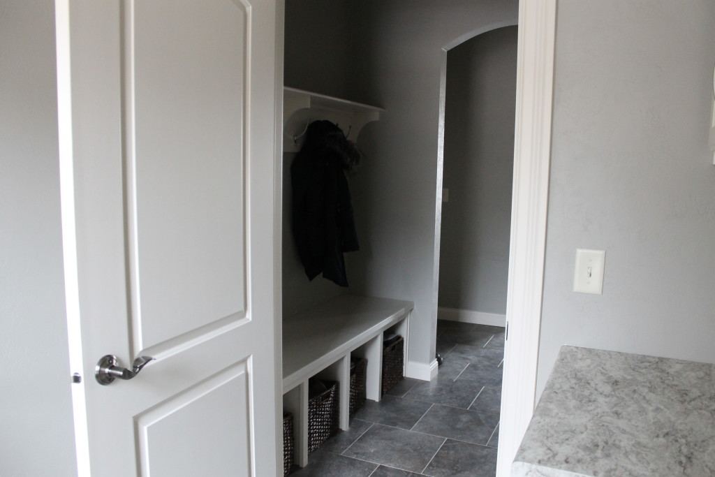 mudroom with hooks