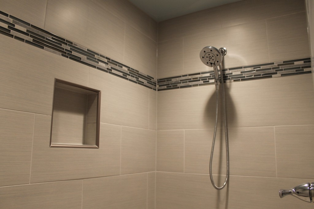 tile shower at chevaliers