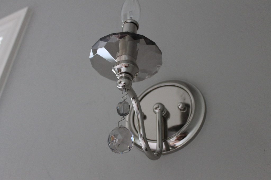 close-up candle wall sconce