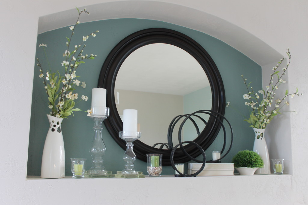 painted fireplace niche