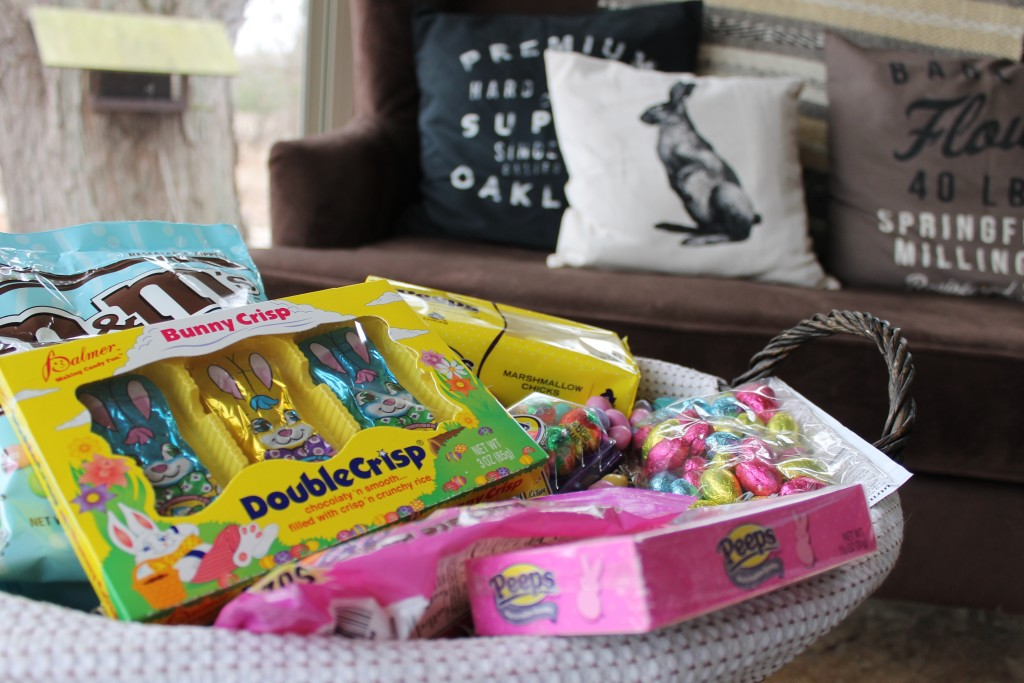 Easter candy in sunroom