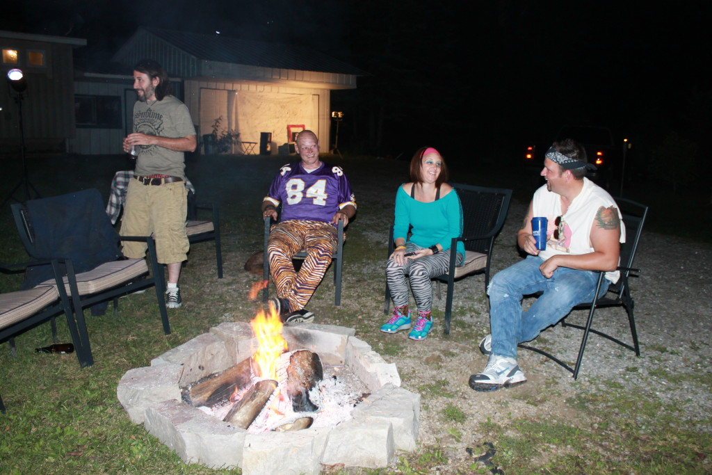 campfire at 90's party