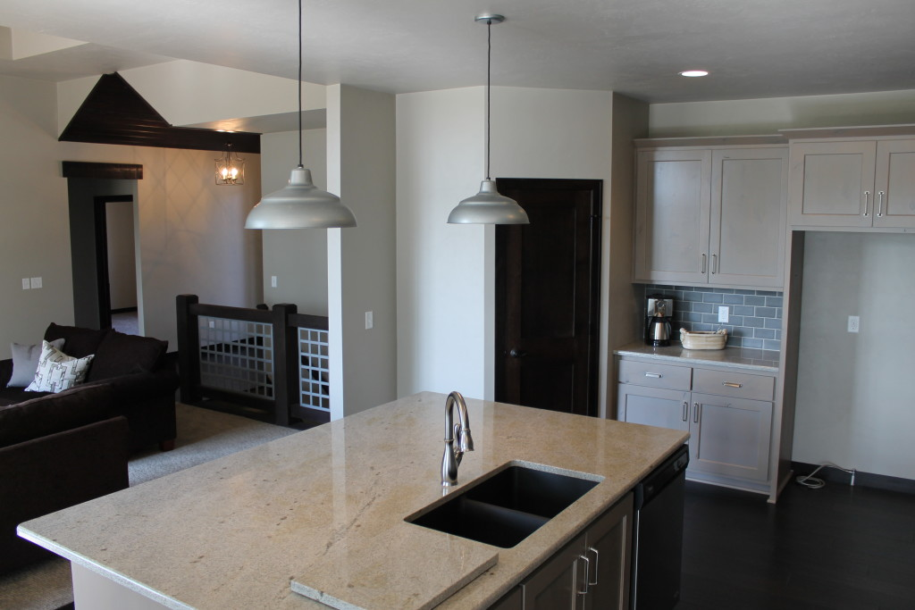 beechwood kitchen with open concept view
