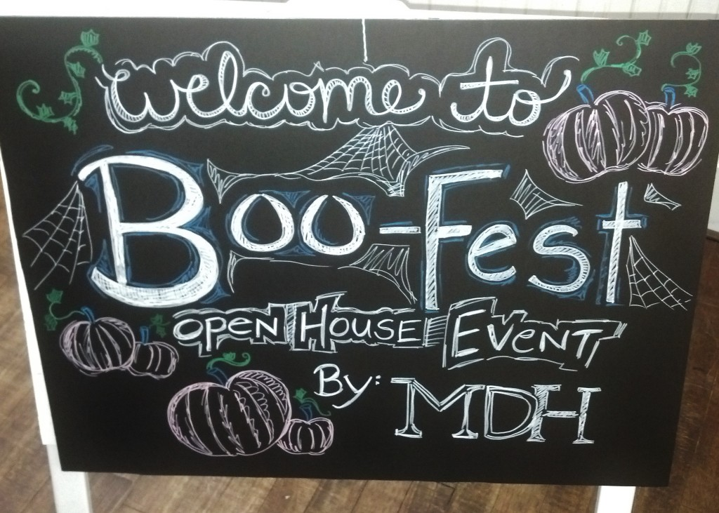 boo-fest sign after