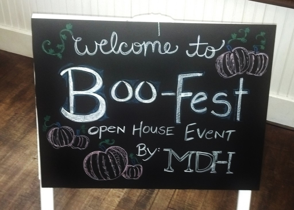boo-fest sign before