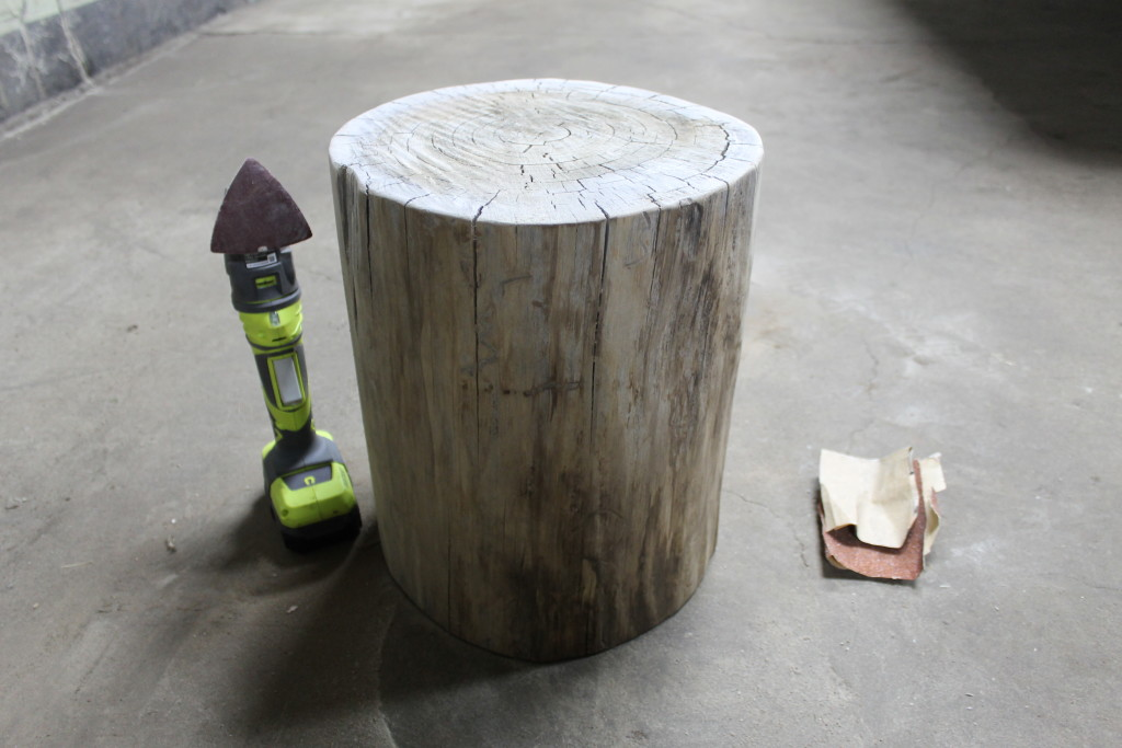 sanding supplied for log table