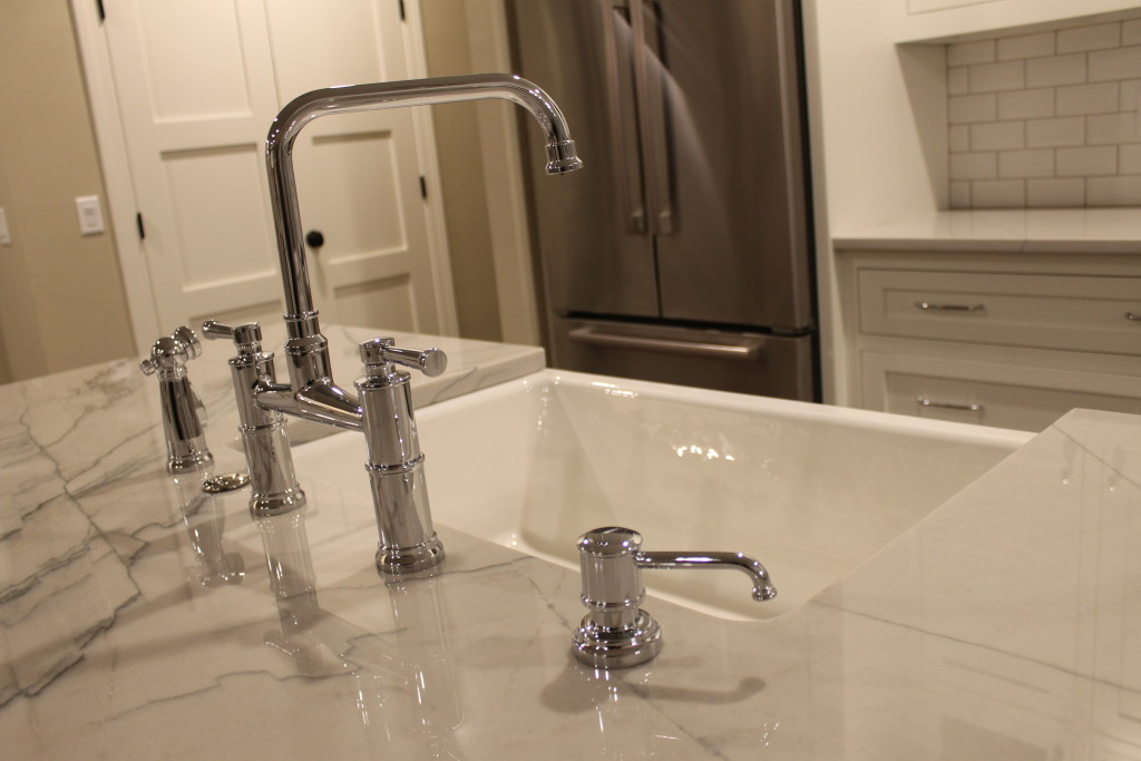 chrome bridge faucets farmhouse essentials