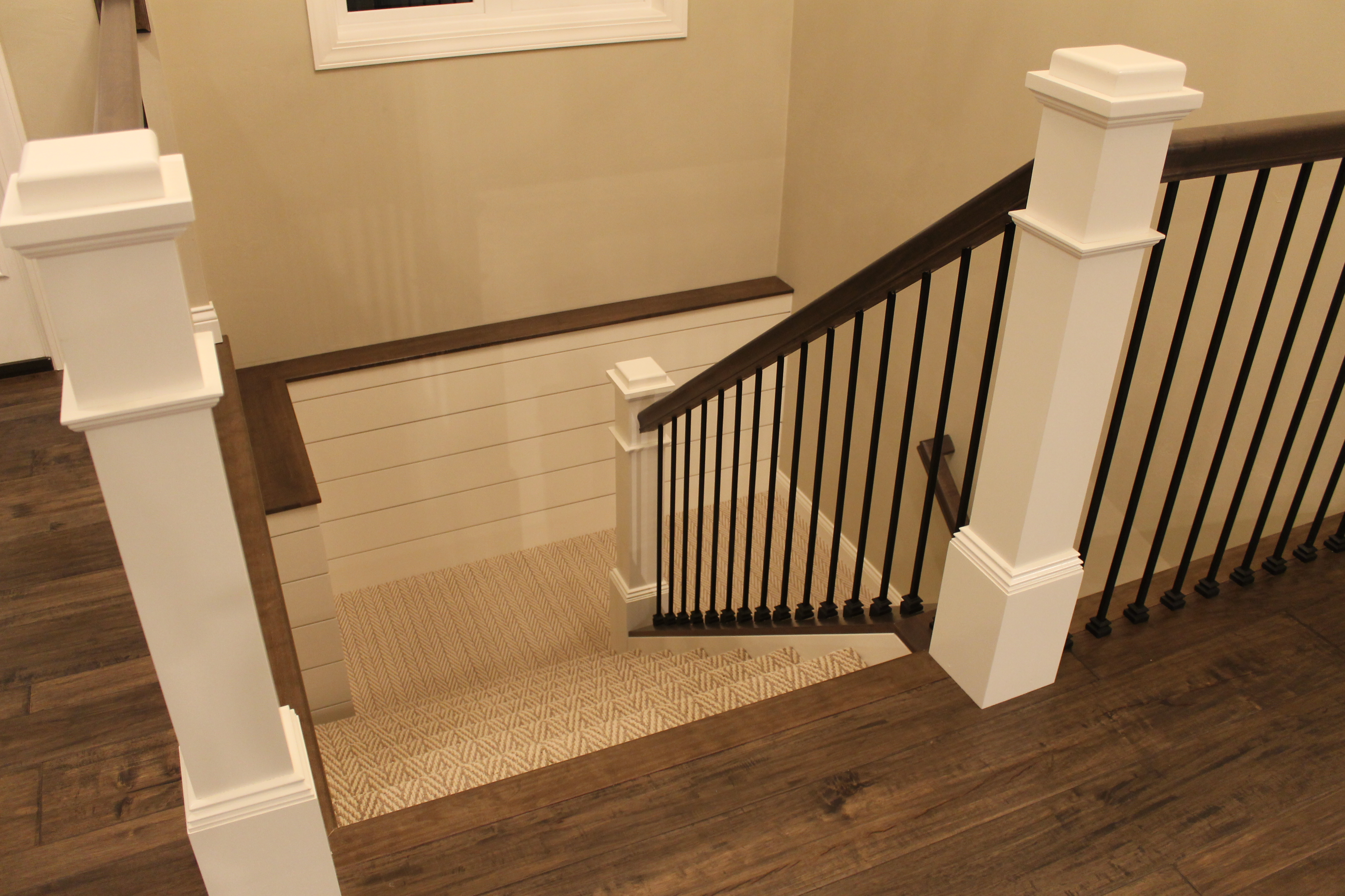 Newest trends for today s farmhouse look katie jane for Farmhouse stairs