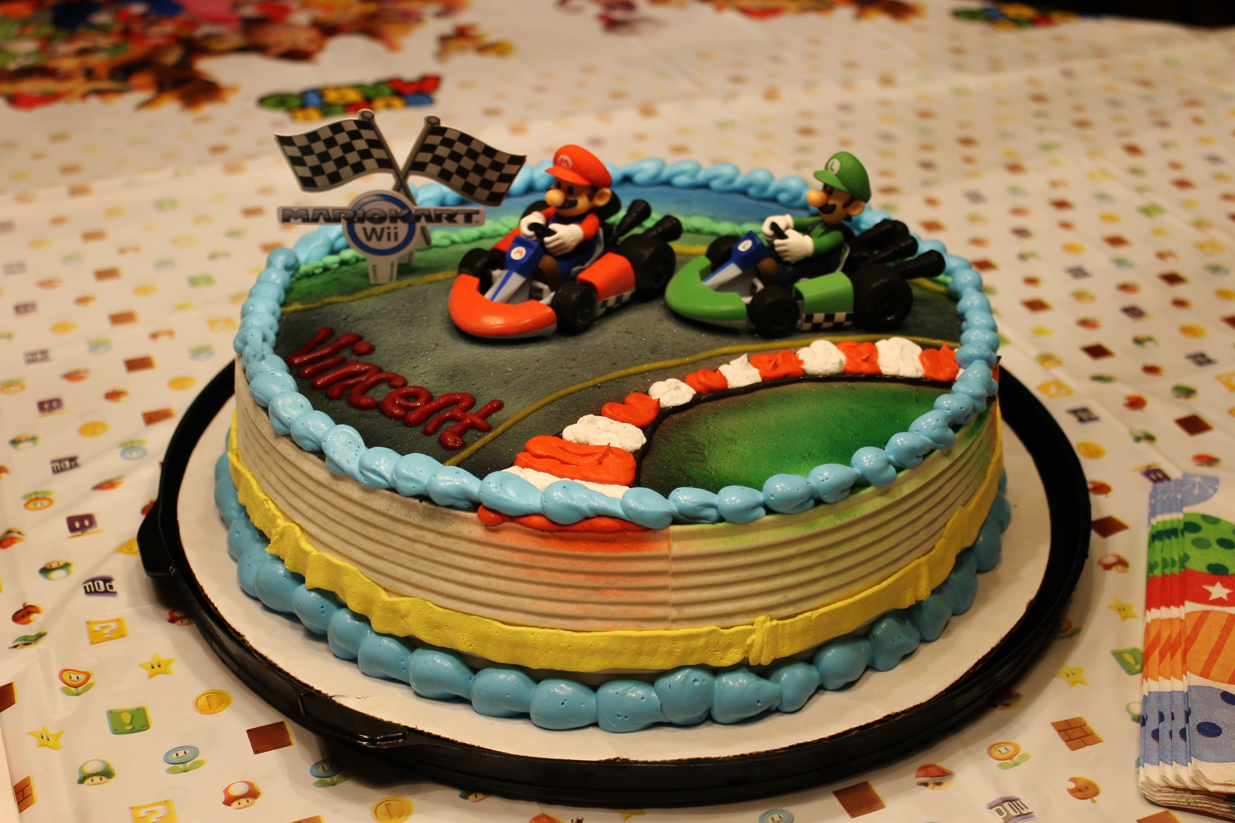 mario kart themed party sunday night supper series katie jane interiors. Black Bedroom Furniture Sets. Home Design Ideas