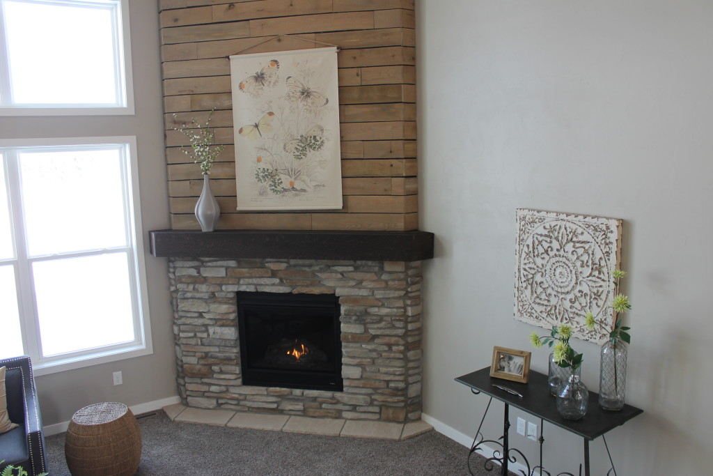 pallet wall fireplace