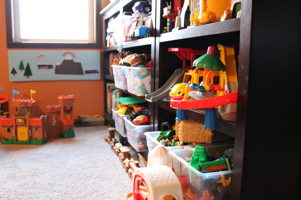 bright colors of toys at mitchell playroom