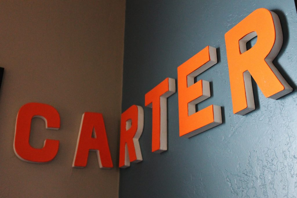 carter letters on wall kids room mitchell