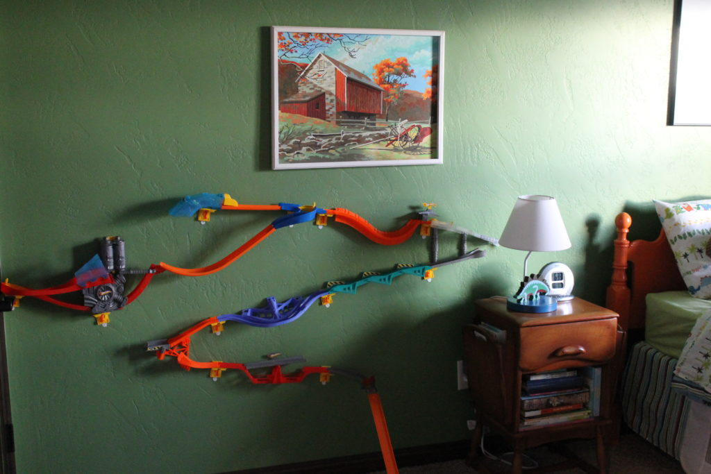 hot wheels track on wall mitchell