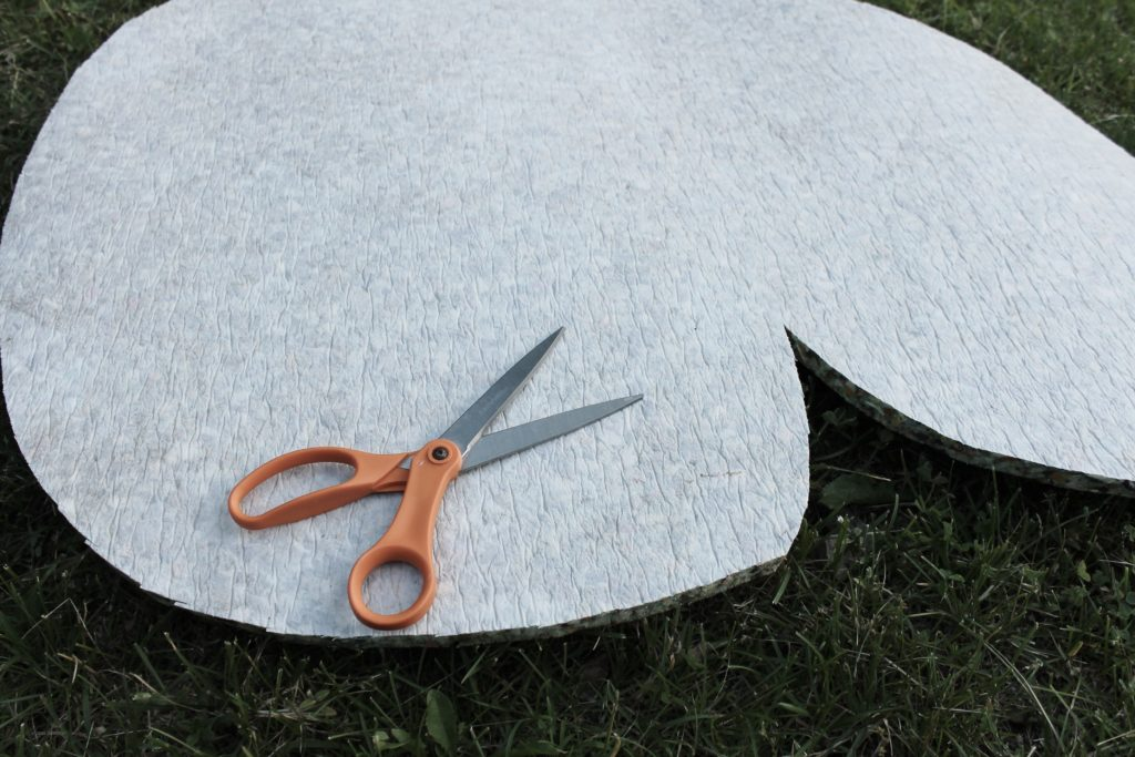 lily pads cut out of carpet pad (2)