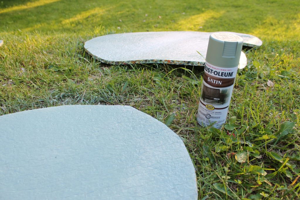 spray paint for lily pad project