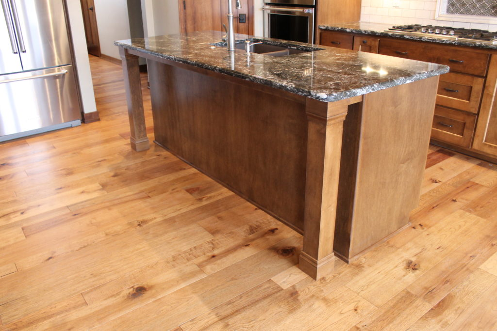 54 kitchen island with decorative leg