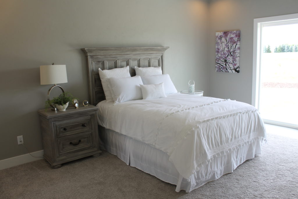 bed painted with chalk paint and wax finish