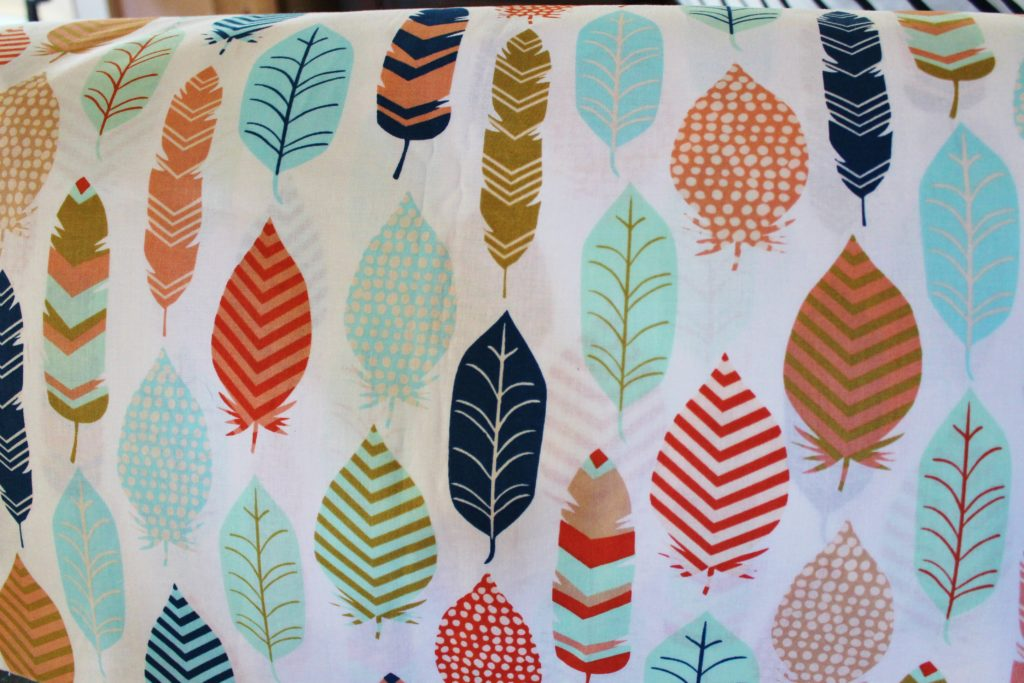 feather print for curtains camper revivial series