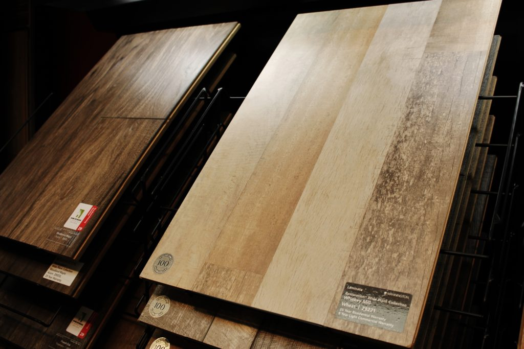 laminate options with realistic wood texture