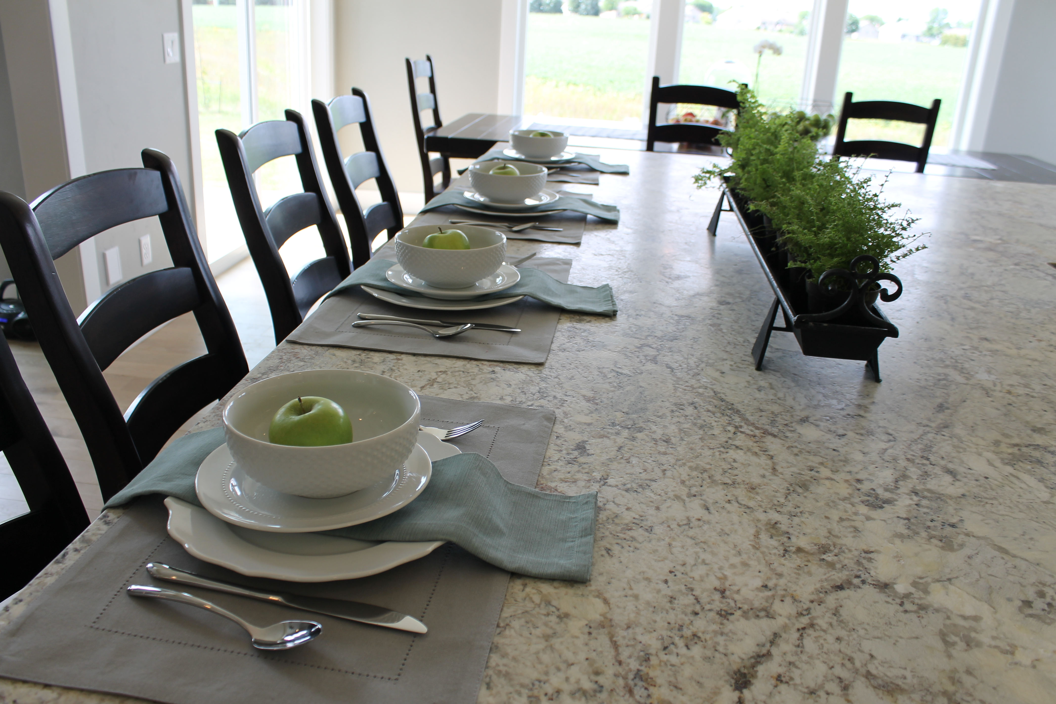 More Staging Tips From A Show Home, How To Set A Dining Room Table For Staging