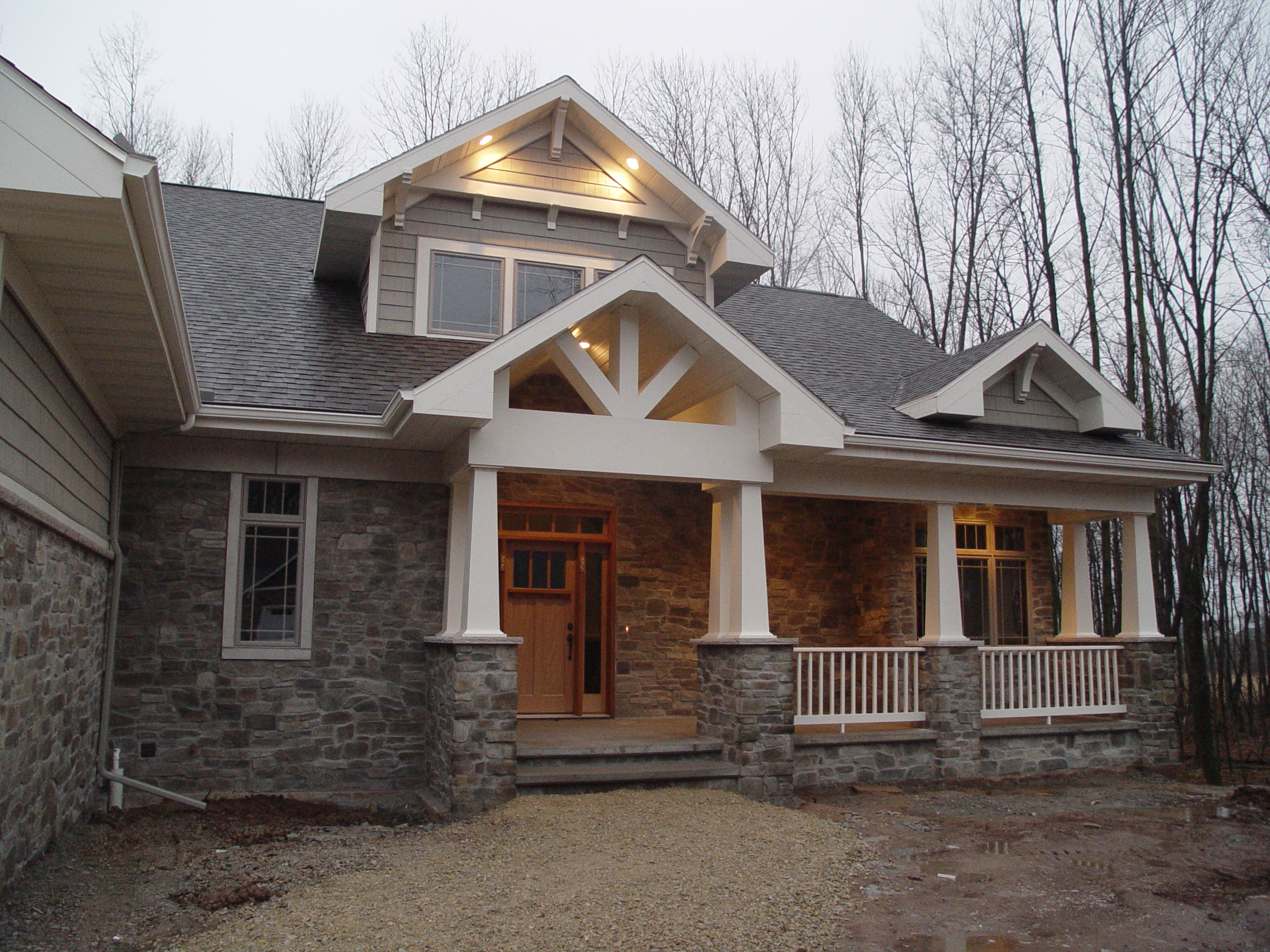 Dressing up the exterior with gable details katie jane for Craftsman style gables