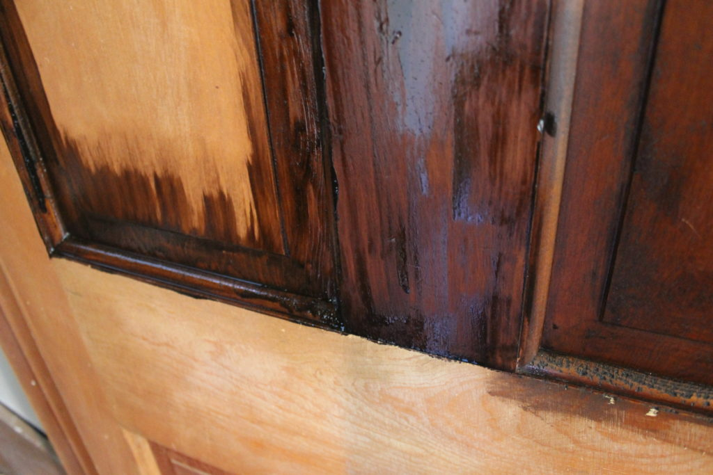 door-to-upstairs-half-stained