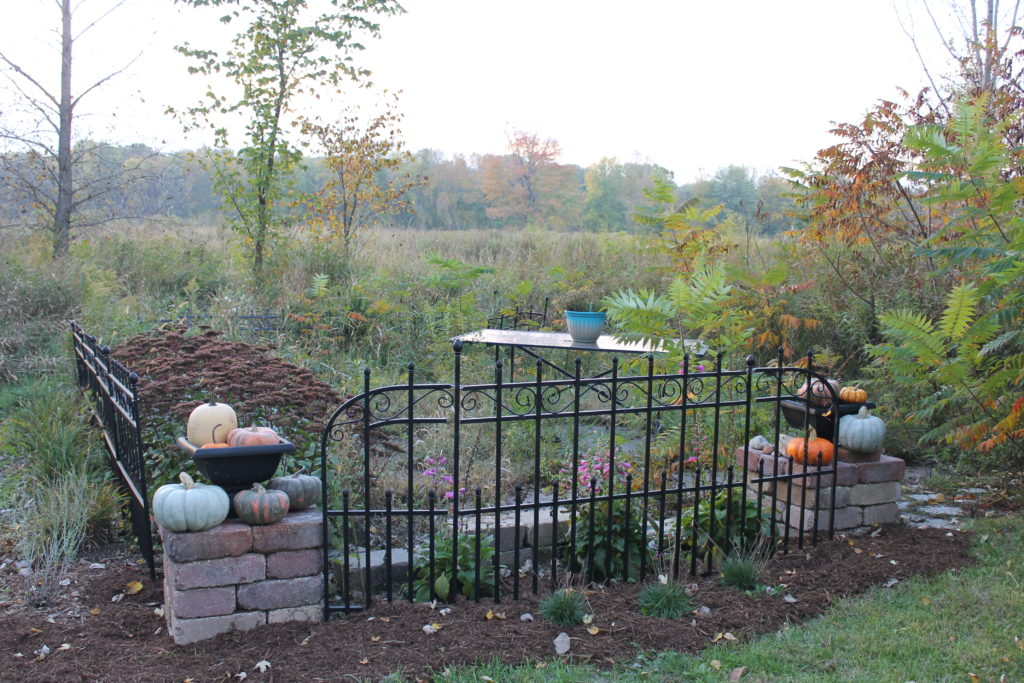 machine-shed-patio-with-blue-and-orange-pumpkins-fall-2016