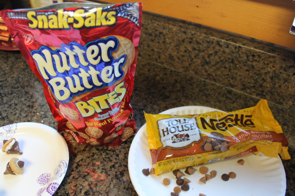 nutter-butter-and-mini-chips-for-chocolate-acorns