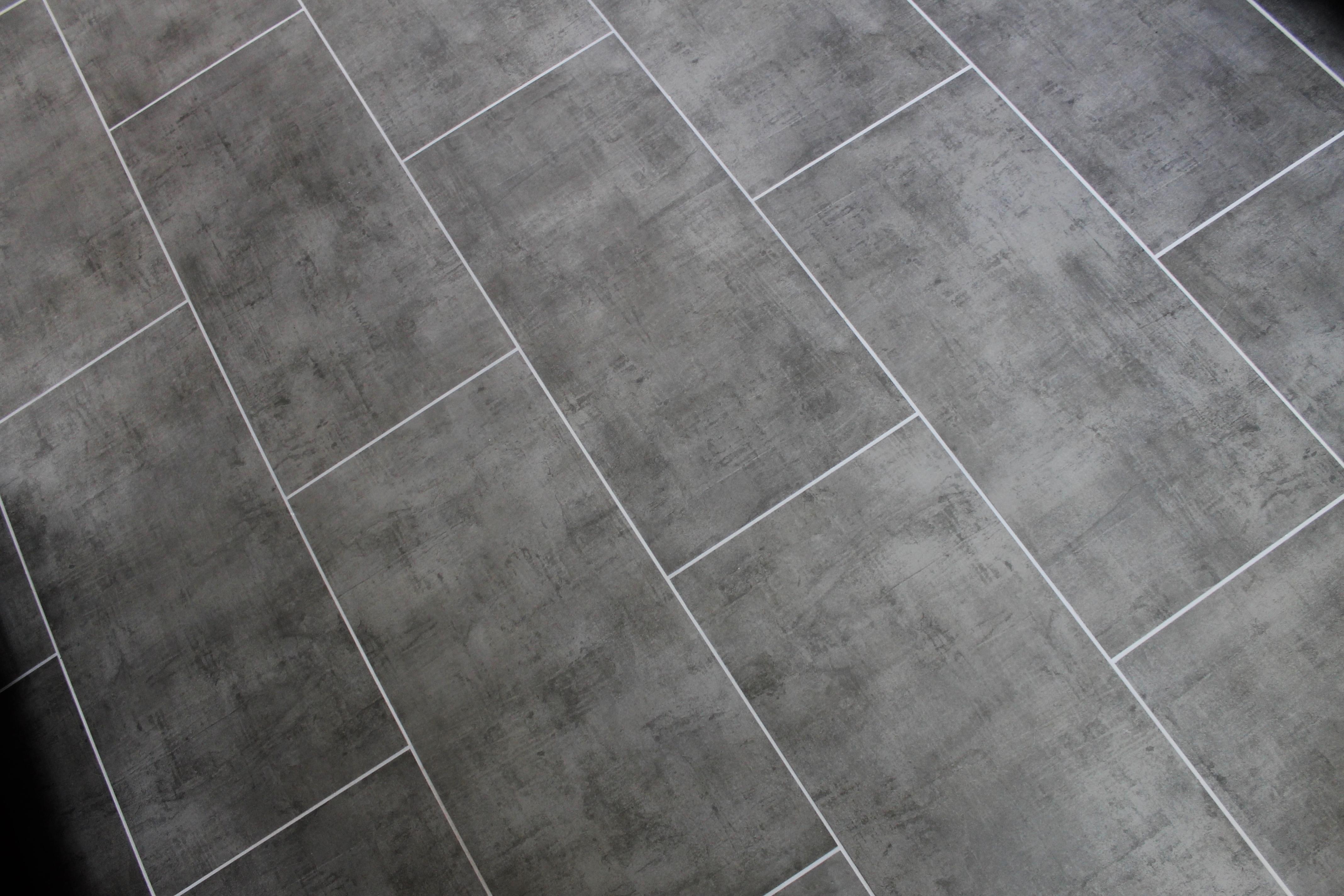 Lvt Floor Gray Long Haymd Shower Tile