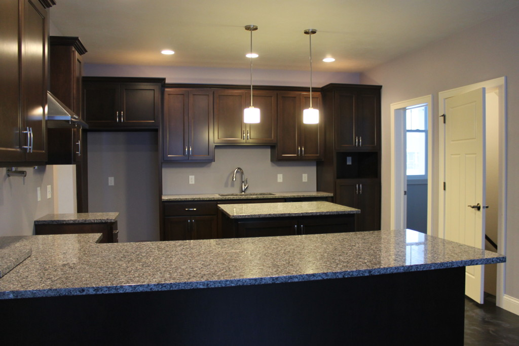 kitchen with dark cabinets and light granite how to choose between light and granite 22206